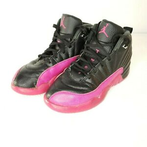 7f6876b2085 Nike Air Jordan 12 Retro Kids GP Deadly Pink Black 510816-026 Size 3 ...