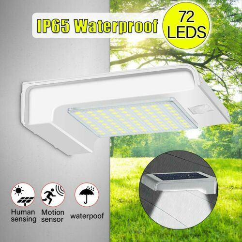 72 LED Solar Gutter Security Wall Light Outdoor Motion Senson Security Lamp