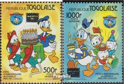 Togo 1962-1963 complete Issue Never Hinged 1986 Donald Duck Unmounted Mint