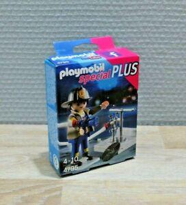 Playmobil-4795-Personnage-pompier-avec-bouche-d-039-incendie
