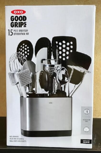 Exceptionnel OXO Good Grips 15 Piece Everyday Kitchen Tool Set Heat Resistant NEW