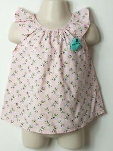 Le-Ragazze-Zara-Baby-Girl-Rosa-a-fiori-manica-corta-Top-camicetta-eta-18-24-mesi