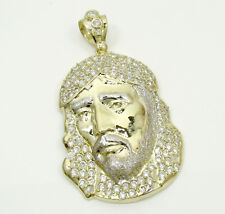 14 Grams Medium Mens 10k Yellow Real Gold Jesus Piece Charm Pendant