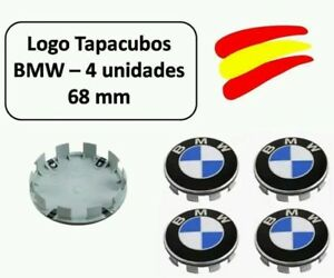 LOGO-TAPAS-EMBLEMA-LLANTAS-BUJE-4-UNIDADES-68MM-ORIGINALES-BMW-ENV-O-EN-24-HORAS
