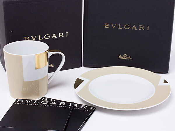 Bvlgari Tazza Porcellana Piattino Della Articoli per la Tavola Piatto