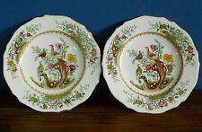 Pair of Antique Copeland Spode Chelsea Bird Style Tea Plates for Waring & Gillow