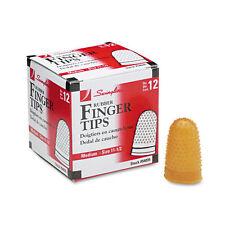 """""""Swingline Rubber Finger Tips, Size 11 1/2, Medium, Amber, 1/dozen"""""""
