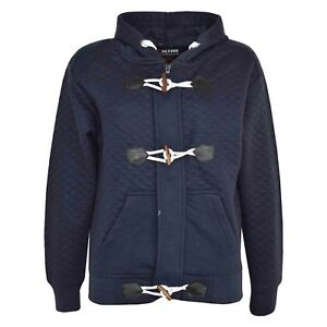 c554e6842 Kids Girls Boys Navy Duffel Hoodie Kids Quilted Fleece Hooded ...