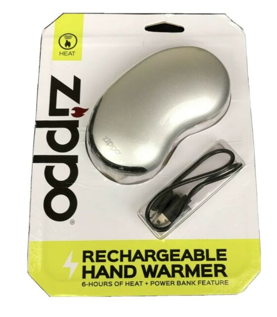 Zippo 6Hr cell phone Recharge power bank Hand warmer Silver Hunting Fishing Etc.