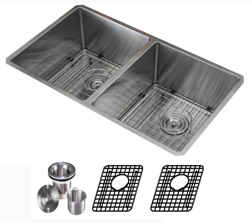 16 Gauge Undermount Stainless Steel Kitchen Sink Grid Strainer Collander 31  inch