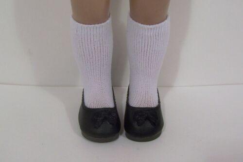 """BLACK Princess Flats Doll Shoes Fit 10/"""" Ann Estelle Sophie Patsy Debs"""