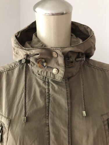 180 Nwt Levi's Khaki 00 L Beige Cotton Lightweight Hooded Anorak Jakke Sz Z5gqdgSwx1
