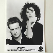 Photo   ISABELLE ADJANI  CHRISTOPHE LAMBERT   Subway   Format 18x24cm