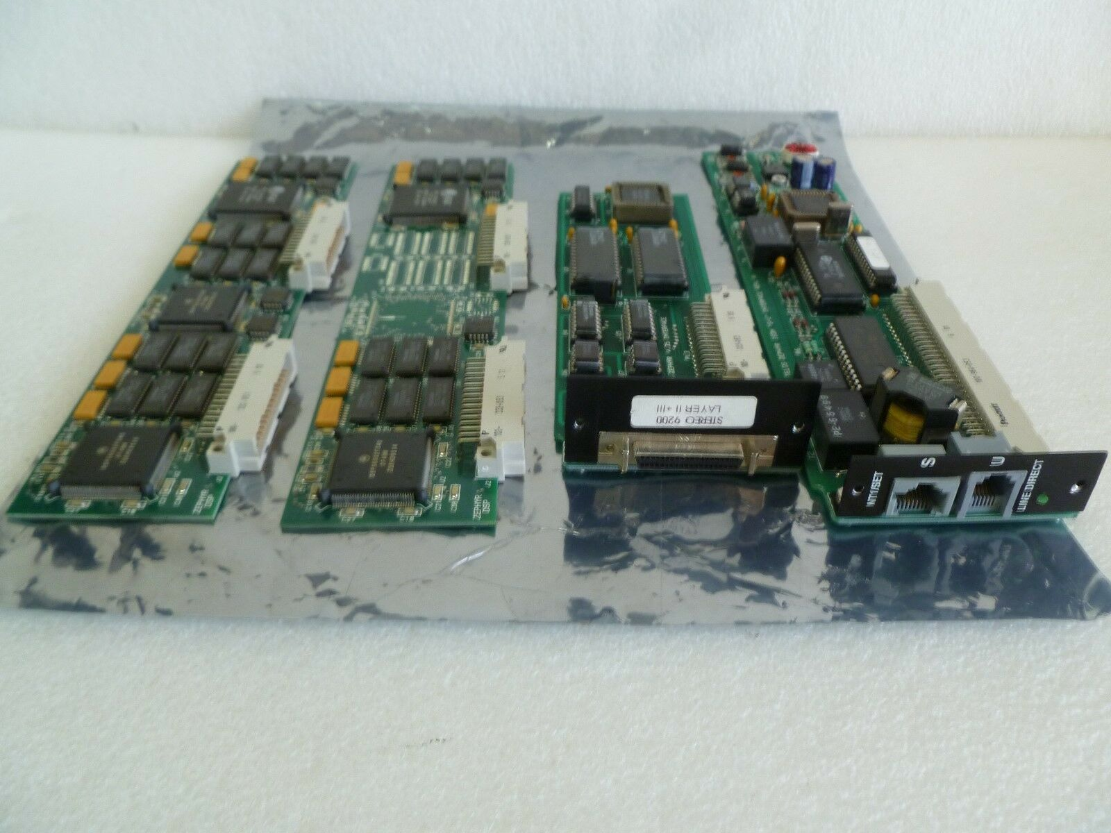 LOT OF 4 MIX TELOS ZEPHYR ISDN  S U  V.35 DSP INTERFACE CARD