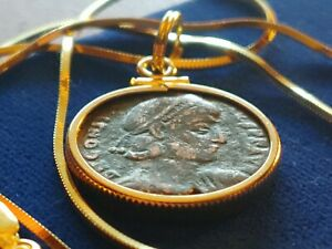 Authentic-Roman-Constantine-II-Coin-Pendant-on-an-18-034-Italian-Gold-Plated-Chain