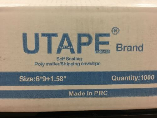 UTAPE® 100 WHITE POLY MAILERS ENVELOPES BAGS SELF SEALING SHIPPING BAGS 6x9