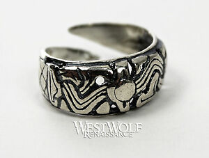 Silver Viking Ring Borre Art Norse Norway Medieval