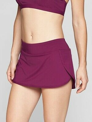 Misses Athleta Black Kata Skirt Swim 2 Swimsuit Bottoms = Size Small NWT