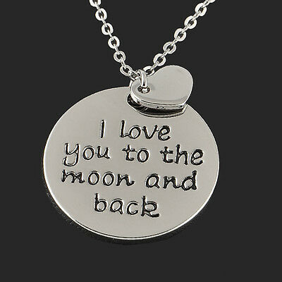 Sweet Love Quote Family Love FriendShip Quote Silver Pendant Necklace Gift