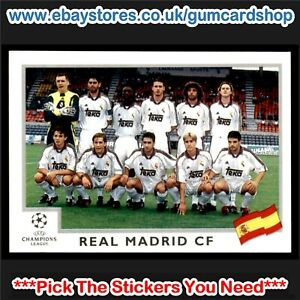 Panini Liga de Campeones 2001-2002 Fernando Hierro Real Madrid Nº 5