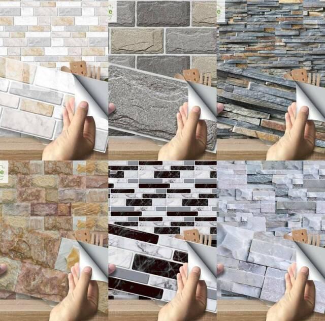 Tile Sticker 3d Kitchen Mosaic Diagonal Sticker Wall Decals Floor Tiles For Sale Online Ebay