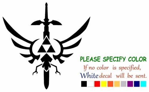 """Legend of Zelda Triforce Mastersword Vinyl Decal Sticker Car Truck Window 6/"""""""
