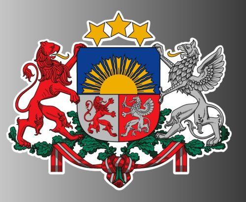 "Latvia coat of arms sticker vinyl decal 5/"" x 4/"""