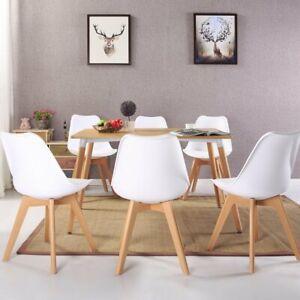 Detalles de EGGREE Sillas de comedor de Retro Sillas modernas de cocina  tapizadas--Blanco
