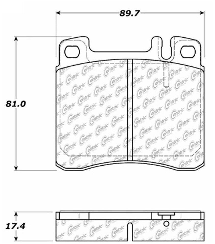 Disc Brake Pad Set Front Centric 104.05780
