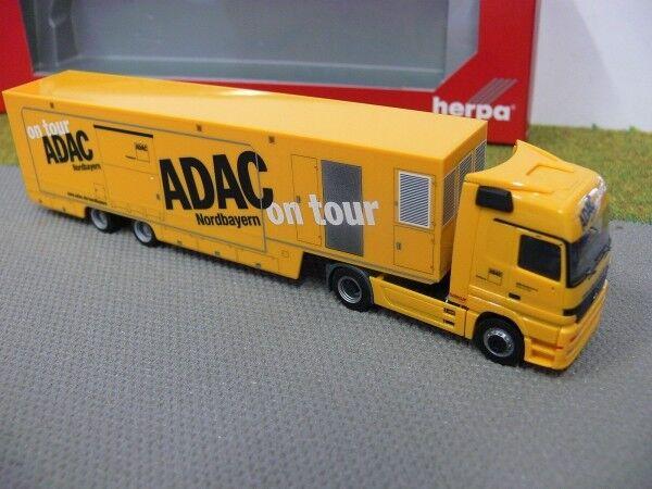 1 87 Herpa 153263 Mo Actros LH valise-Semi-remorque ADAC Nordbayern