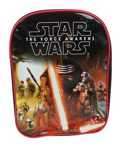 Star Wars The Force Awakens BB-8 Kylo Ren Movie Backpack Rucksack ... 8daa365e5e941