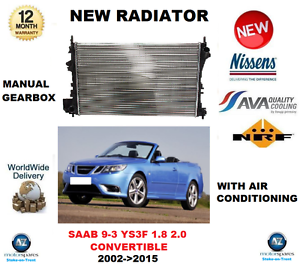 FOR SAAB 93 CONVERTIBLE 1.8 2.0 20022015 NEW COOLING RADIATOR OE QUALITY