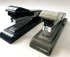 Lot Of 2 Vintage Bostitch B8 Stapler Black Amp Gray Tested Works Retro