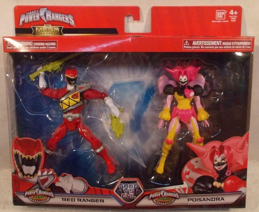 Power Rangers poisandra Villano & rojo Ranger Mega Colección Dino súper Cochego