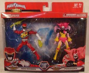 Power Rangers Mega Collection Dino Super Charge Ranger Rouge & Poisandra Villain 45557435219