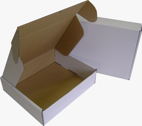 White Corrugated Boxes 7 x 4 x 1.5""