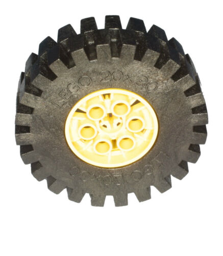 Missing Lego Brick 4266 /& 4267  Yellow /& Black Technic Tyre /& Hub 20 x 30