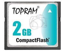 TOPRAM 2GB CF 2G Compact Flash Card fit CANON SONY NIKON COOLPIX D200 A350 D50