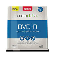 Maxell Dvd-r Discs 4.7gb 16x Spindle Gold 100/pack 638014 on sale