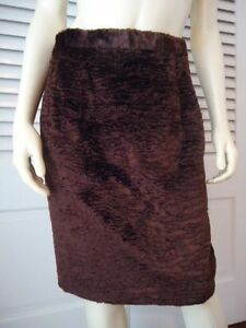 APART-IMPRESSIONS-Skirt-10-Faux-Fur-Cotton-Rayon-Blend-Lined-Retro-Mod-CHIC