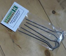 Yellow Top 150mm x 3mm - Superlite 5g each NEW Pack of 10 Titanium Tent Pegs