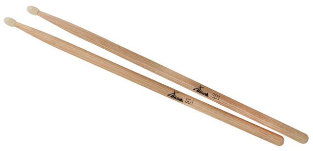1 Paar hochwertige XDrum 7A Schlagzeug Sticks aus Ahorn mit Nylonkopf