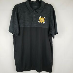 Augusta-Mens-Polo-Shirt-First-Robotics-Embroidered-Patch-Size-Large-Short-sleeve