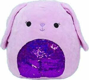 "Squishmallow Kellytoy12"" Bubbles Purple Bunny Sequin Super Soft Plush Pillow Pet"