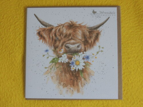 1 x Cow FOLDING CARD ENVELOPE Wrendale Designs Greeting Cards Daisy Cow Daisy