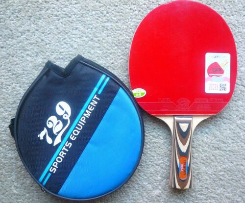 w// Cream Rubber New 729 Friendship Pips-in Table Tennis Paddle RITC2060 UK