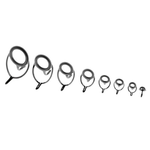 16 stücke Edelstahl Keramik Ring Auge Reparatur Angelrute Führungen