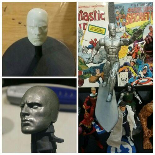 Marvel Legends Custom Silver Surfer Head Cast UNPAINTED.