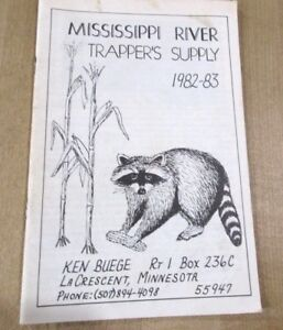 1982 83 Mississippi River Trappeurs Supply Catalogue Lacrescent Minnesota >-afficher Le Titre D'origine
