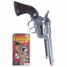 prop SHERIFF/Lawman die cast Pistol Cowboy Western Toy CAP GUN Colt 45 Spain New